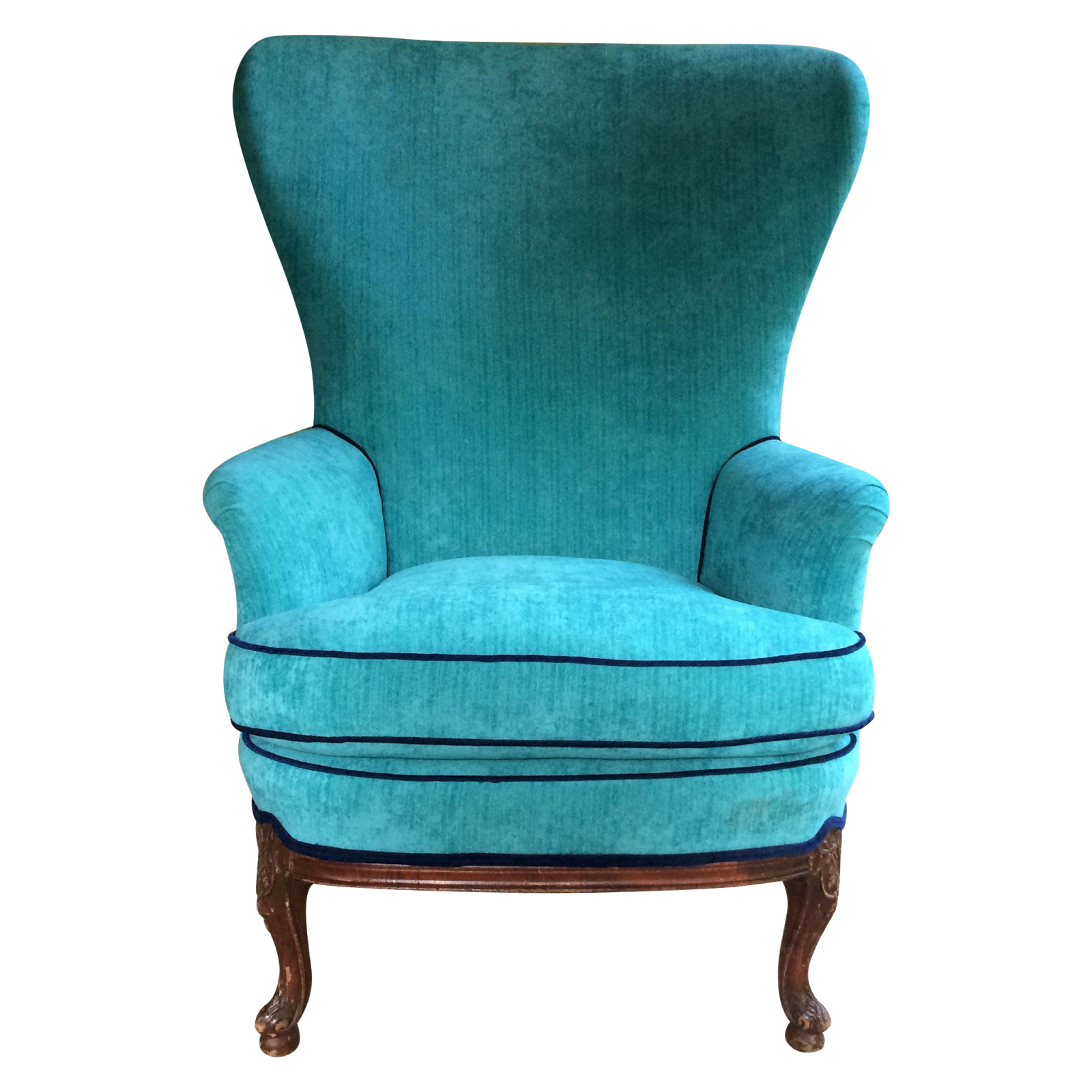 turquoise wingback chair jerry johnson the best in vintage inspired designs chairish