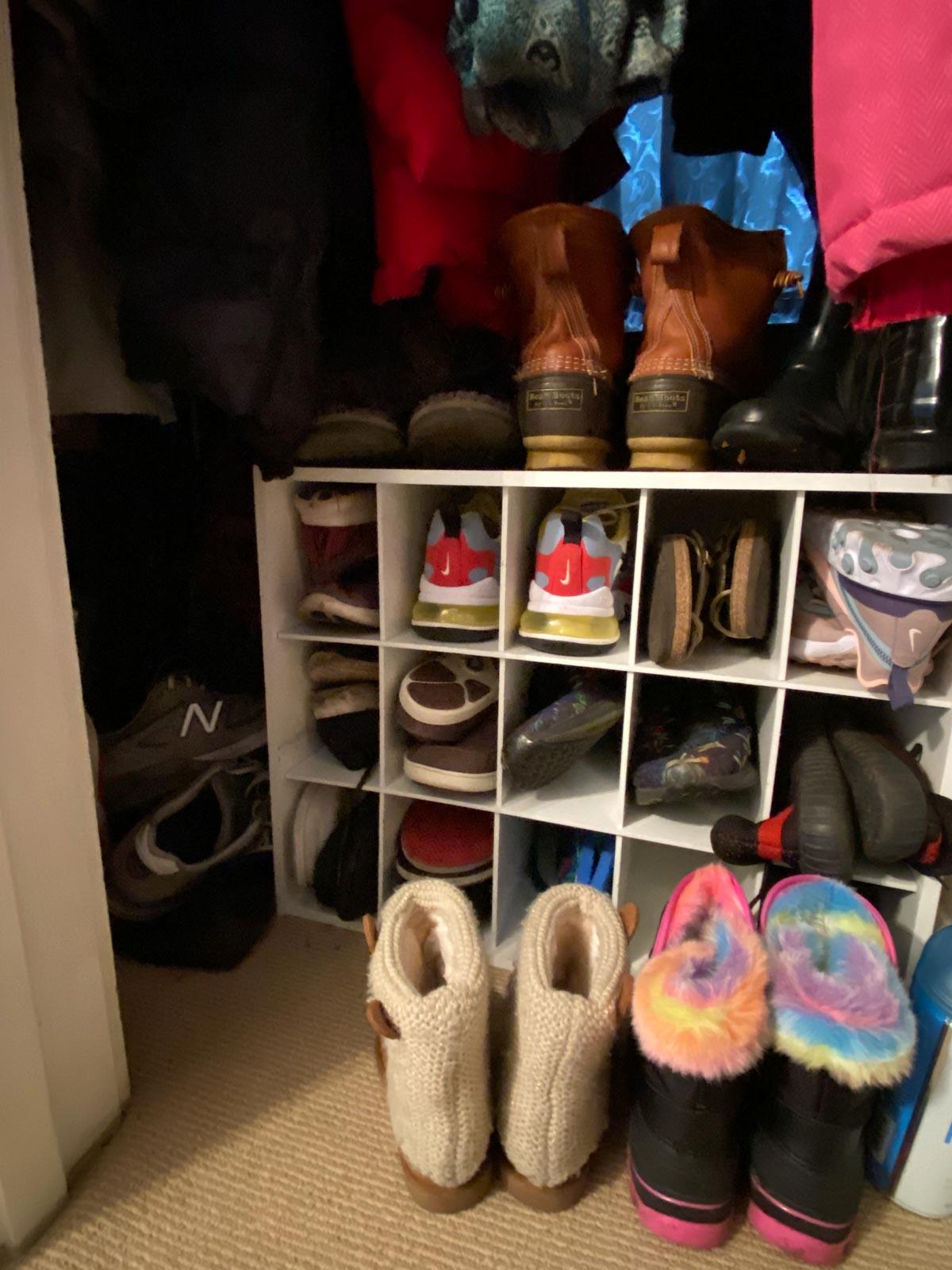 coat closet storage solution closet