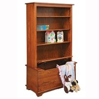 Bookcase with Toy Box - Home Wood Furniture
