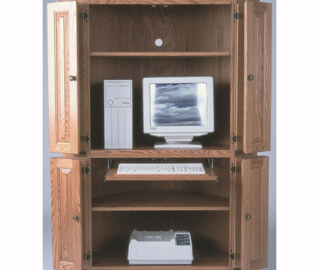 Corner Computer Armoire