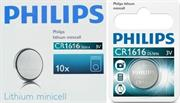 Philips Minicells Battery CR1616 Lithium Sold as Box of 10