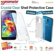 Promate Crystal-S5 ,Crystal Clear Shell Protective Case For