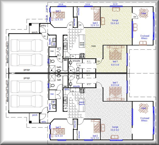 2 bedroom duplex house plans australia for 2 bedroom house plans australia
