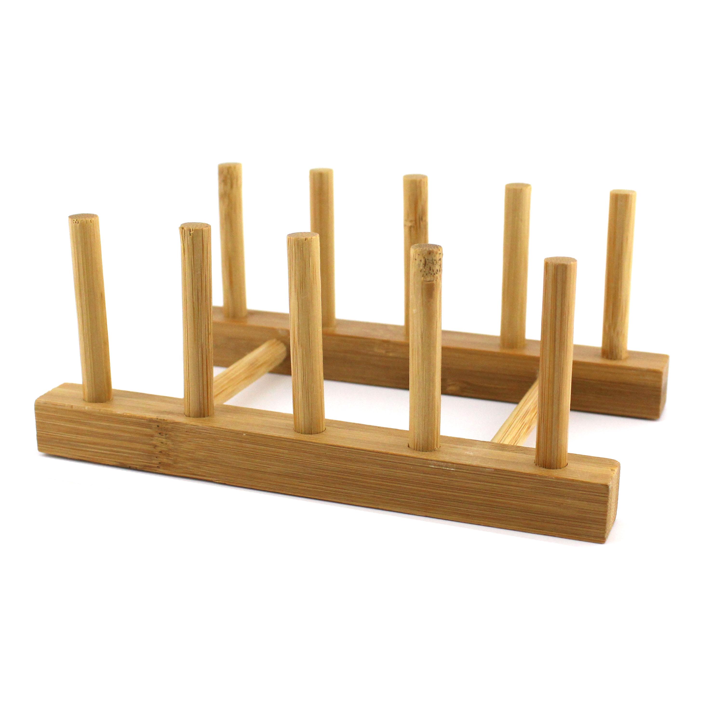 Homex Bamboo Plate Holder Rack