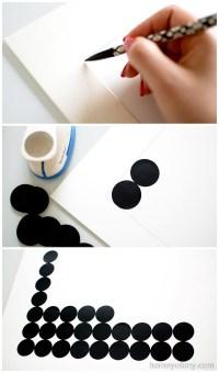DIY Graphic Circle Wall Art - Homey Oh My