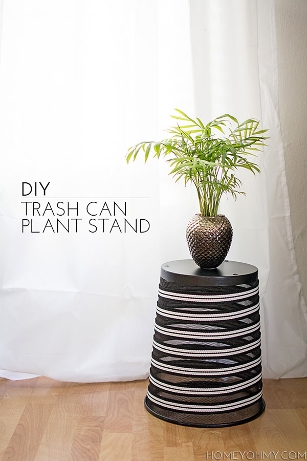 DIY Trash Can Plant Stand  Homey Oh My