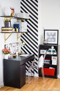 How to Create a Striped Accent Wall Without Paint - Homey ...