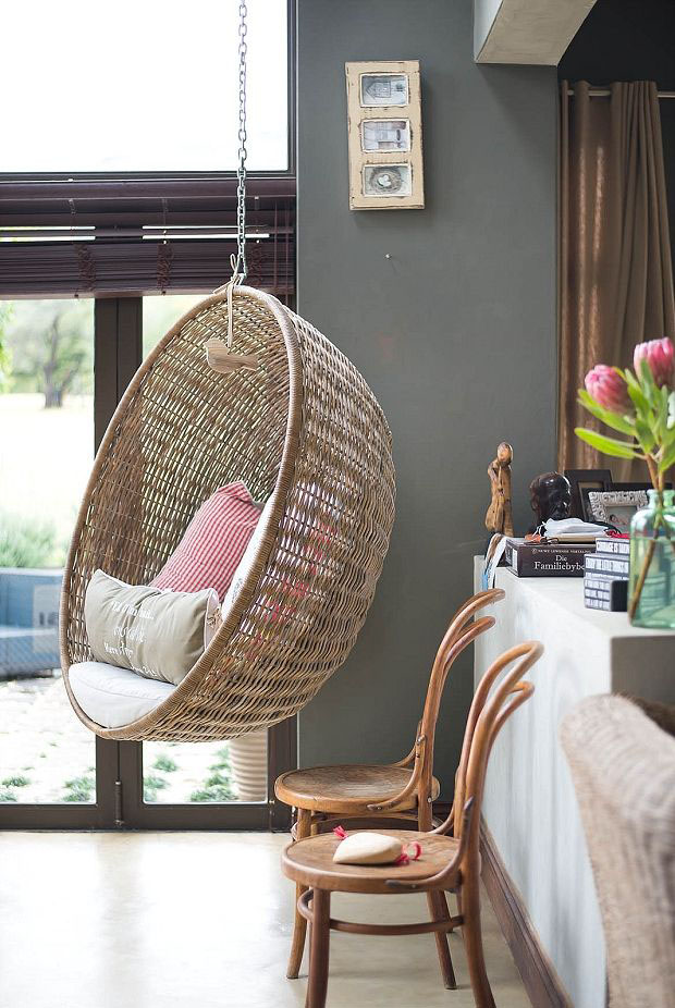 swing chair johannesburg contemporary leather dining chairs hanging homey oh my rattan