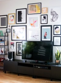 How to Plan and Hang a Gallery Wall - Homey Oh My