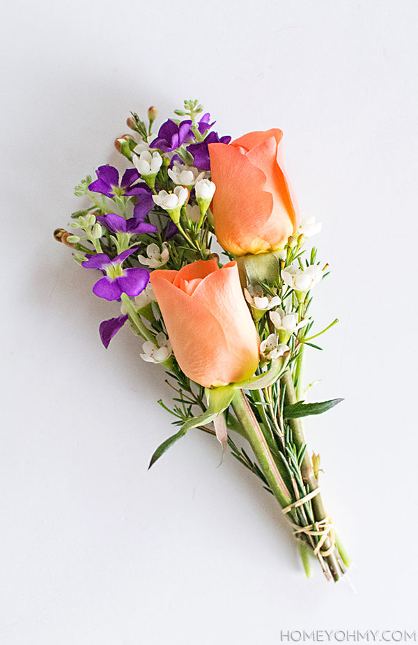 diy mini flower bouquets