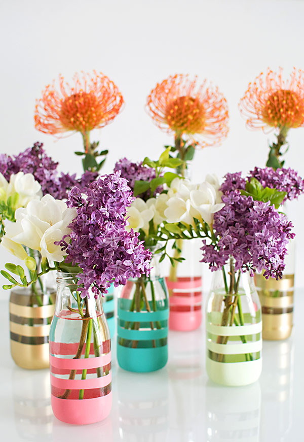 Earth Month Diy Upcycling Glass Bottles Into Vases Pottery Barn