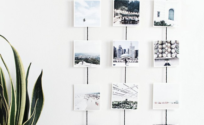Diy Photo Wall Hanging Homey Oh My