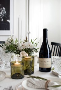 DIY Wine Bottle Floating Candle Holders