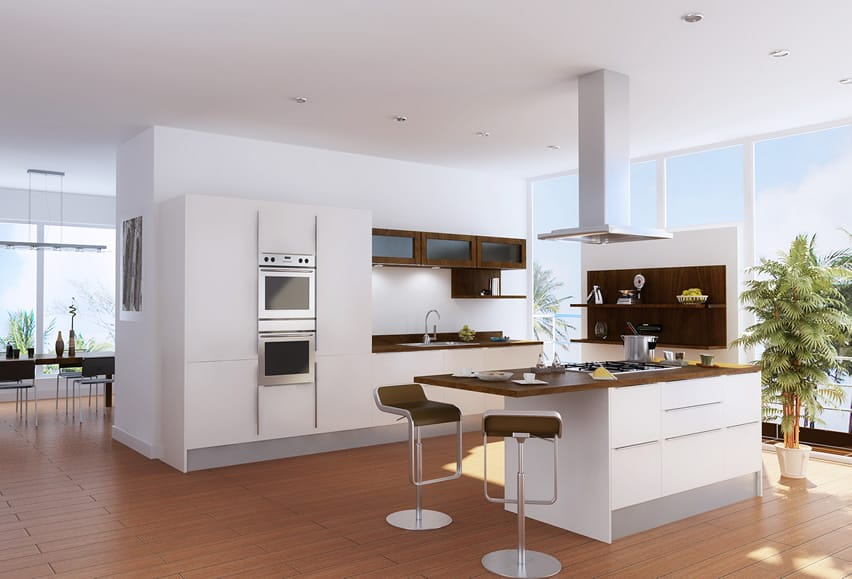 Image Result For White And Wood Kitchen Ideas