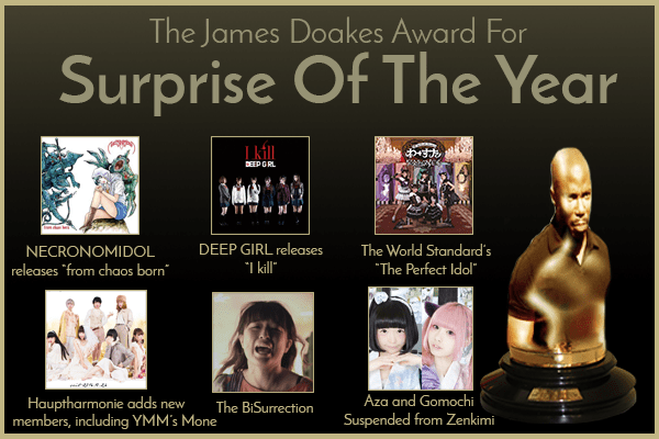 Banner for the 2016 Homicidols.com Surprise of the Year