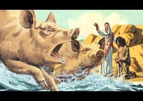 Jesus cast spirit on swine