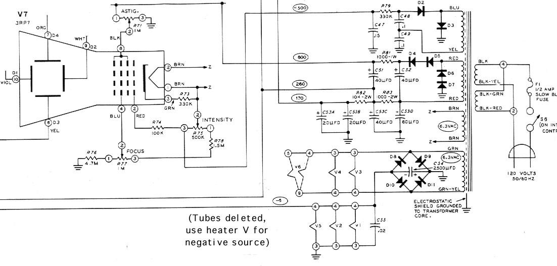 samsung crt monitor schematic diagram