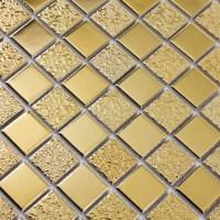 Gold Porcelain Tiles Bathroom Wall Backsplash Glazed ...