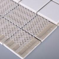 Wholesale Porcelain Floor Tile Mosaic White Square Brick ...