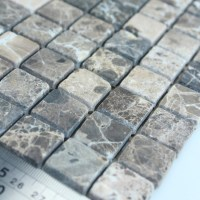 Stone Mosaic Tile Square Grey Patterns Bathroom Wall ...