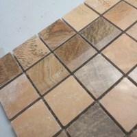 Natural Stone Mosaic Tile Square Brown Patterns Bathroom ...