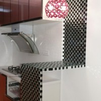 Black and Silver Glass Mosaic Tile 3D Pyramid Crystal ...