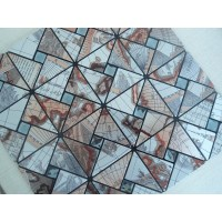 Peel and Stick Tile Pinwheel Patterns Aluminum Metal Wall ...
