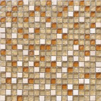 Wholesale Cream Stone Mosaic Tile Sheet Square Brown ...