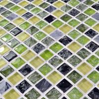 Glass stone mosaic tile crackle glass mosaic glass wall tile