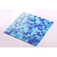 Blue Glass Mosaic Tiles Blacksplash Vitreous Mosaic Tile ...