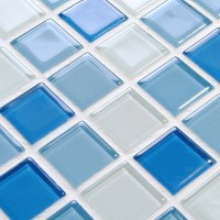 Wholesale Glass Mosaic for Swimming Pool Tile Blue White ...