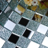 Wholesale Mirror Tile Squares Blue Bathroom Mirrored Wall ...