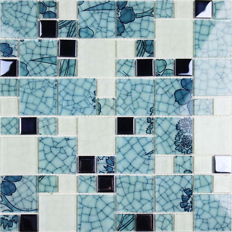Crystal Glass Mosaic Kitchen Tiles Washroom Backsplash