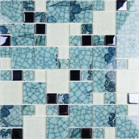 Crystal Glass Mosaic Kitchen Tiles Washroom Backsplash ...