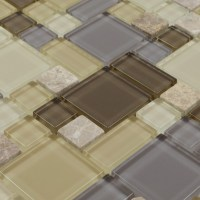 Glass & Stone Blend Mosaic Marble Wall Tiles