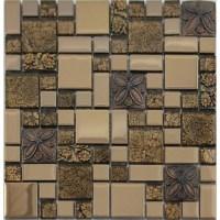 Crystal glass mosaic Tile Snowflake Style Mosaic Art Design