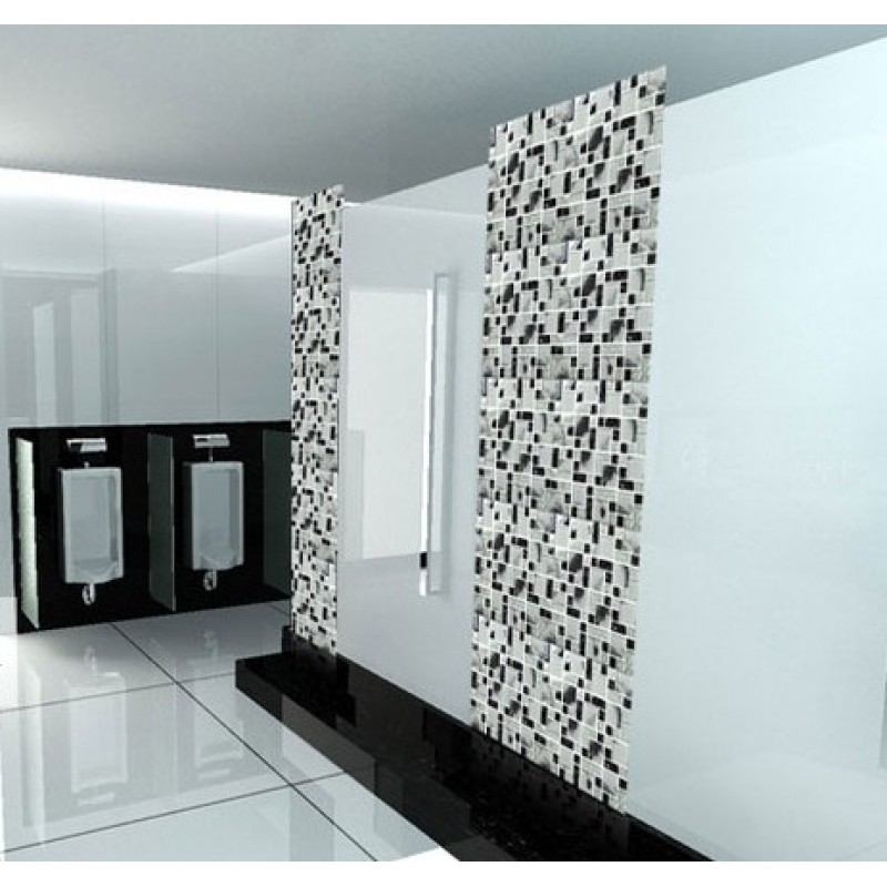 Wholesale Mosaic Tile Crystal Glass Backsplash Kitchen Countertop Design Ice Crack Bathroom Wall