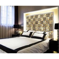 gold items crystal glass mosaic tile wall backsplashes ...