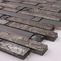Wholesale Metallic Backsplash Tiles Brown 304 Stainless ...