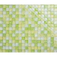 green crackle glass tiles crystal tile wall backsplashes ...