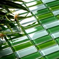 Crystal Glass Tile Brick Strip Kitchen Backsplash Tiles ...