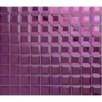 purple crystal glass mosaic tile mirror tile wall ...