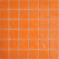 Wholesale Orange Crystal Glass Mosaic Tiles Kitchen ...