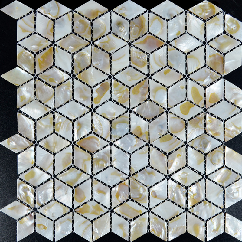 Wholesale Mother of Pearl Tile Backsplash Mesh White Shell