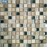 Textured Natural Stone Kitchen Backsplash Cracked Glass ...