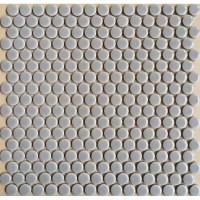 Penny Round Porcelain Grey Tile