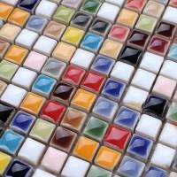 Glaze Porcelain Mosaic Tile Colorful Kitchen Wall Tiles ...