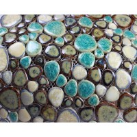 Glazed Porcelain Pebble Mosaic Tiles Wall Designs Ceramic ...