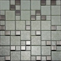 Crystal Glass Tiles Brushed Patterns Bathroom Wall Tile ...
