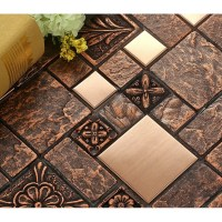 Wholesale Porcelain tiles Square Mosaic Tile Design Metal